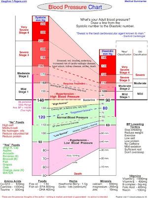 blood pressure chart for men. Human Blood Pressure Range