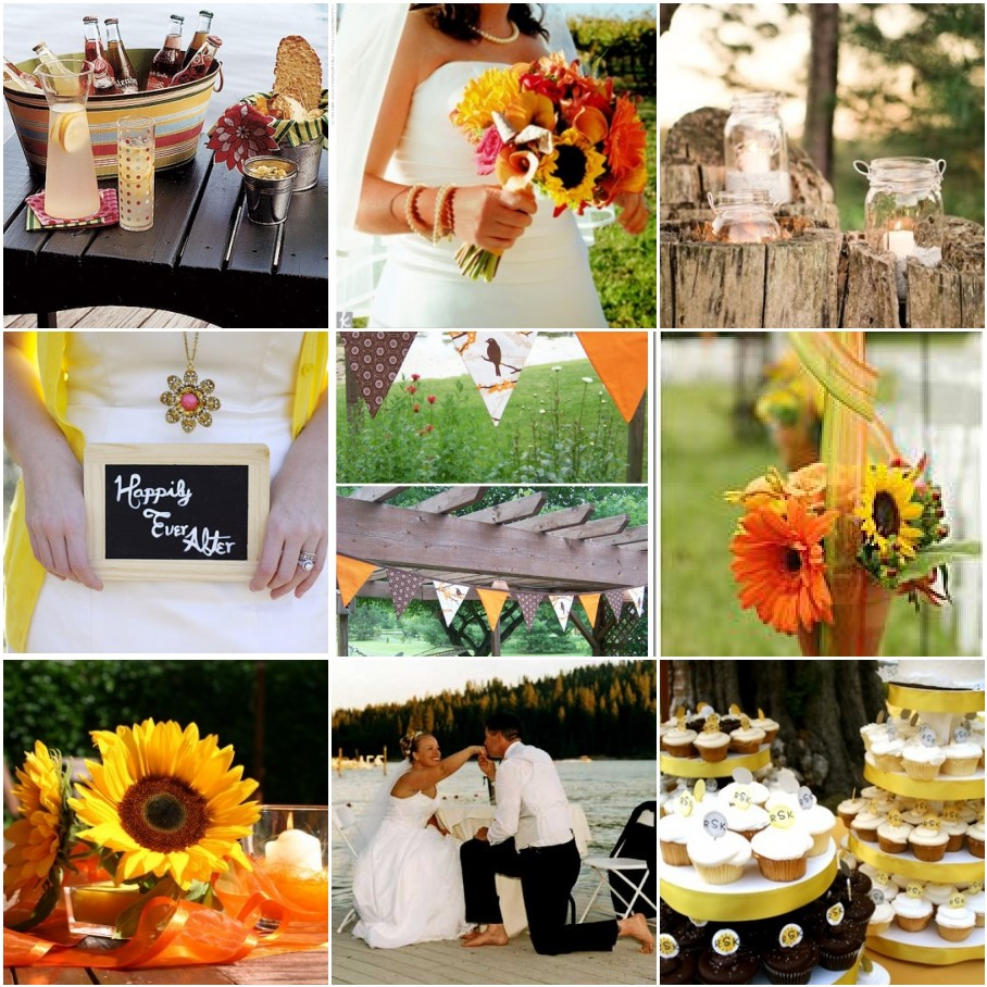Country Themed Wedding Reception Decorations