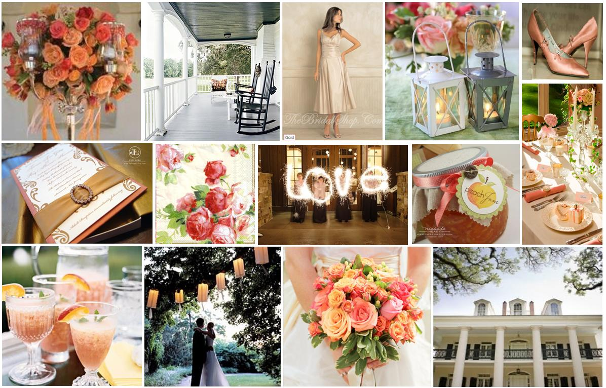 Peach and Coral Wedding Colors