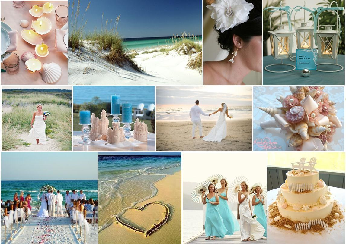 Peach pizzazz casual beach wedding for Cheap beach decorations for the home