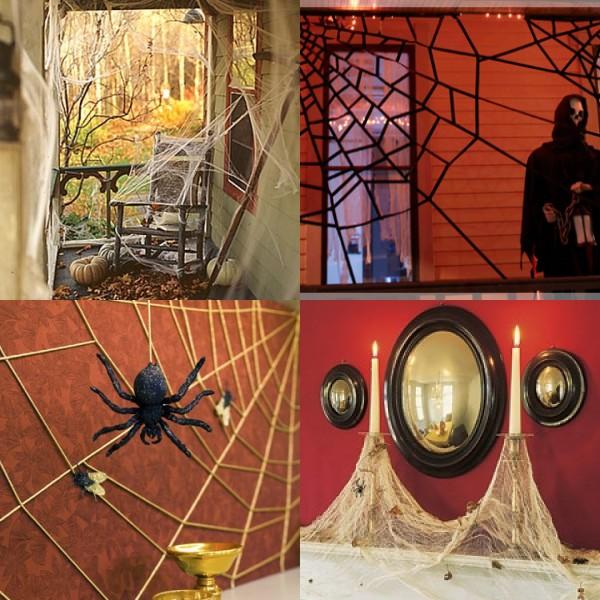 Peach Pizzazz!: Halloween Ideas: Spooky Bats and Cobwebs Four Ways