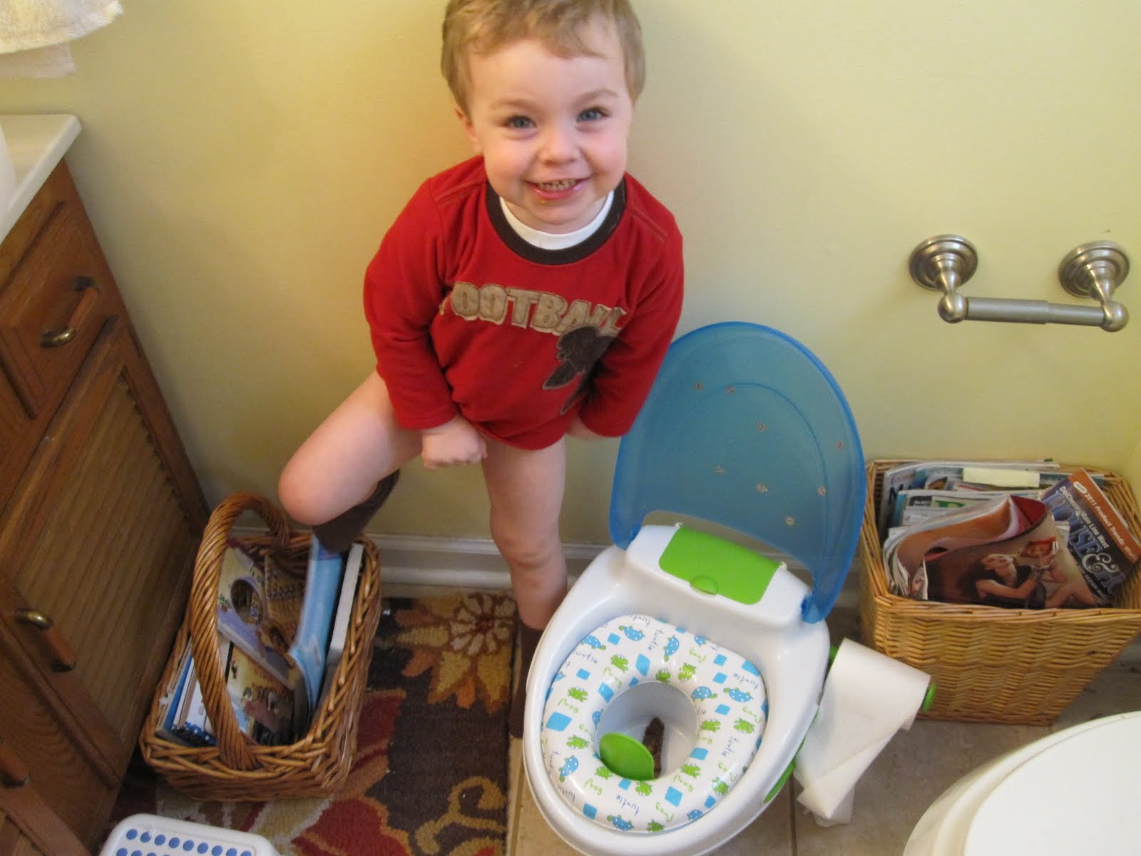 the young family  potty training