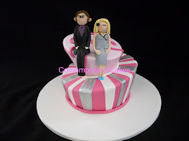 Mad Hattters Cake with personalised figurines