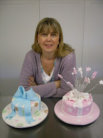 Me with some of my cake classes cakes.