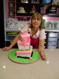 3 tier square Mad Hatters cake.