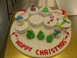 Christmas cupcake class.