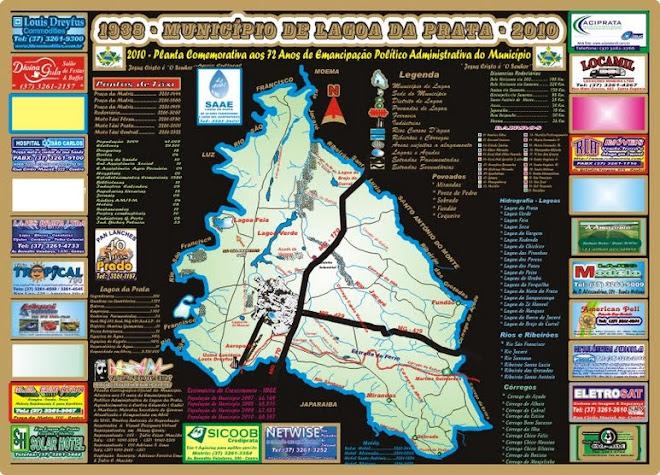 Planta Cartográfica Oficial do Município de Lagoa da Prata