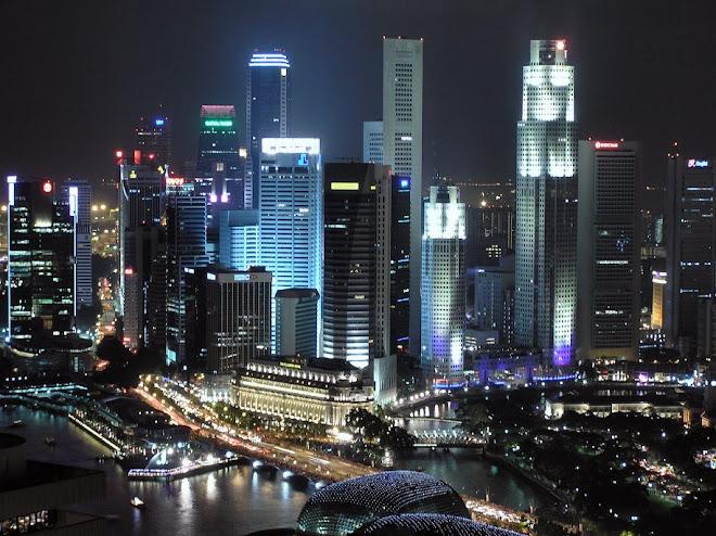 Vista Noturna de Singapore