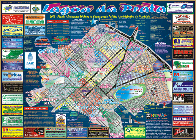 Planta Oficial da Cidade - 2008/2009