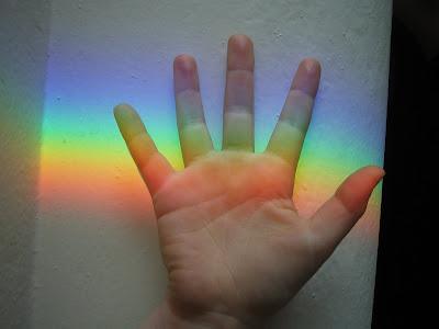 Zoe and a rainbow