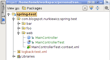 how to create spring integration test