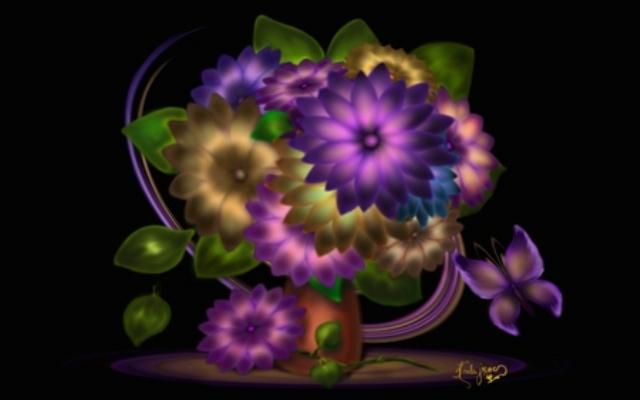 393717 - Digital Flowers