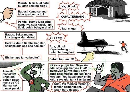 Raja Gigi boleh tarik jika jet 1Malaysia tiada enjin? (King Tooth can pull if 1Malaysia's jet has no engine? www.klakka-la.blogspot