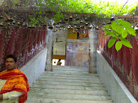 Stairs lead to Hanuman Garhi Temple
