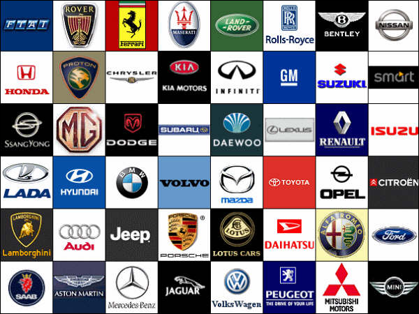 Bikes And Cars Popular Car Symbols