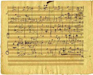 Partitura manuscrita de G. F. Händel