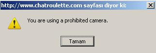 you are using prohibited camera