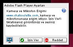chatroulette flash player hatası, chatroulette flash player uyarısı