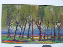 trees near the hills   7 x 10