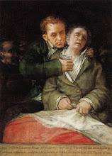 Auto-retrato de Goya com hemiplegia após acidente vascular encefálico