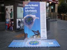 Parada informativa a la plaça d'Espanya