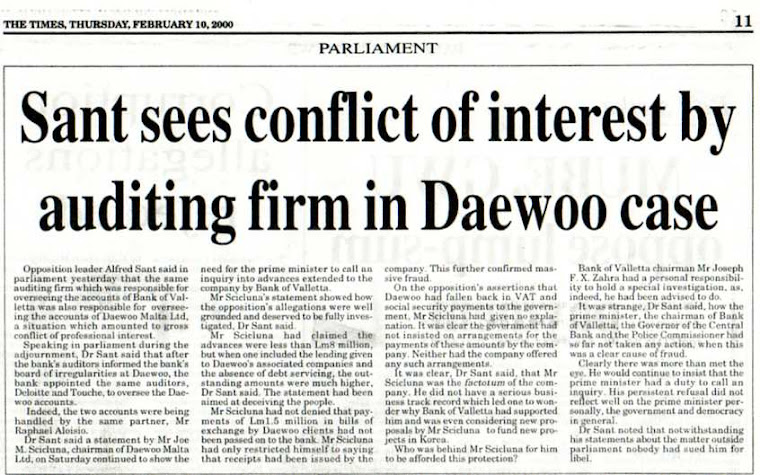 John Dalli's Conflict of Interest