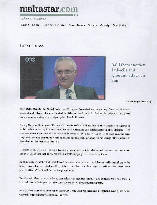 Arrogant John Dalli