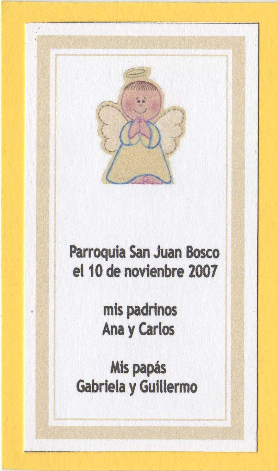 Recordatorios de tarjetas de bautismo para imprimir - Imagui