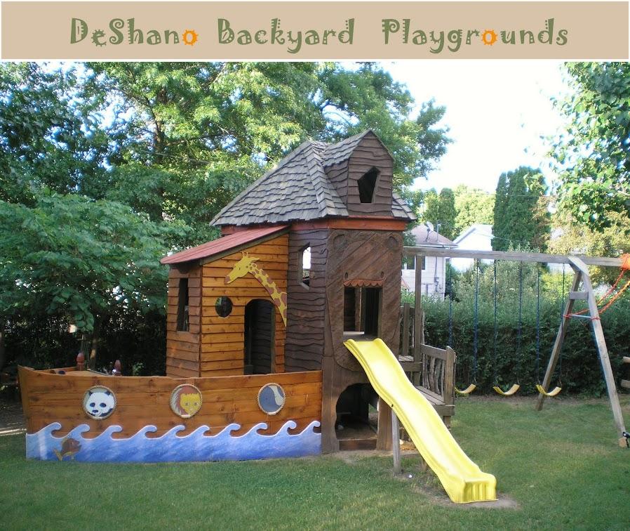 gallery for backyard playground design