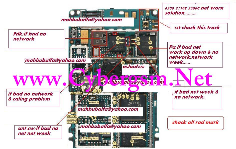 6300 no network no signal solution