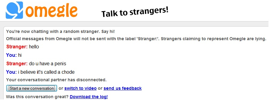 omegle video site
