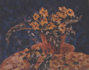 Still Life - Ceramic Pot and Flowers