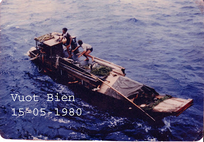"Vietnamsese boat people fled for freedom from the ""free-doom"" Hanoi Communist Regime"