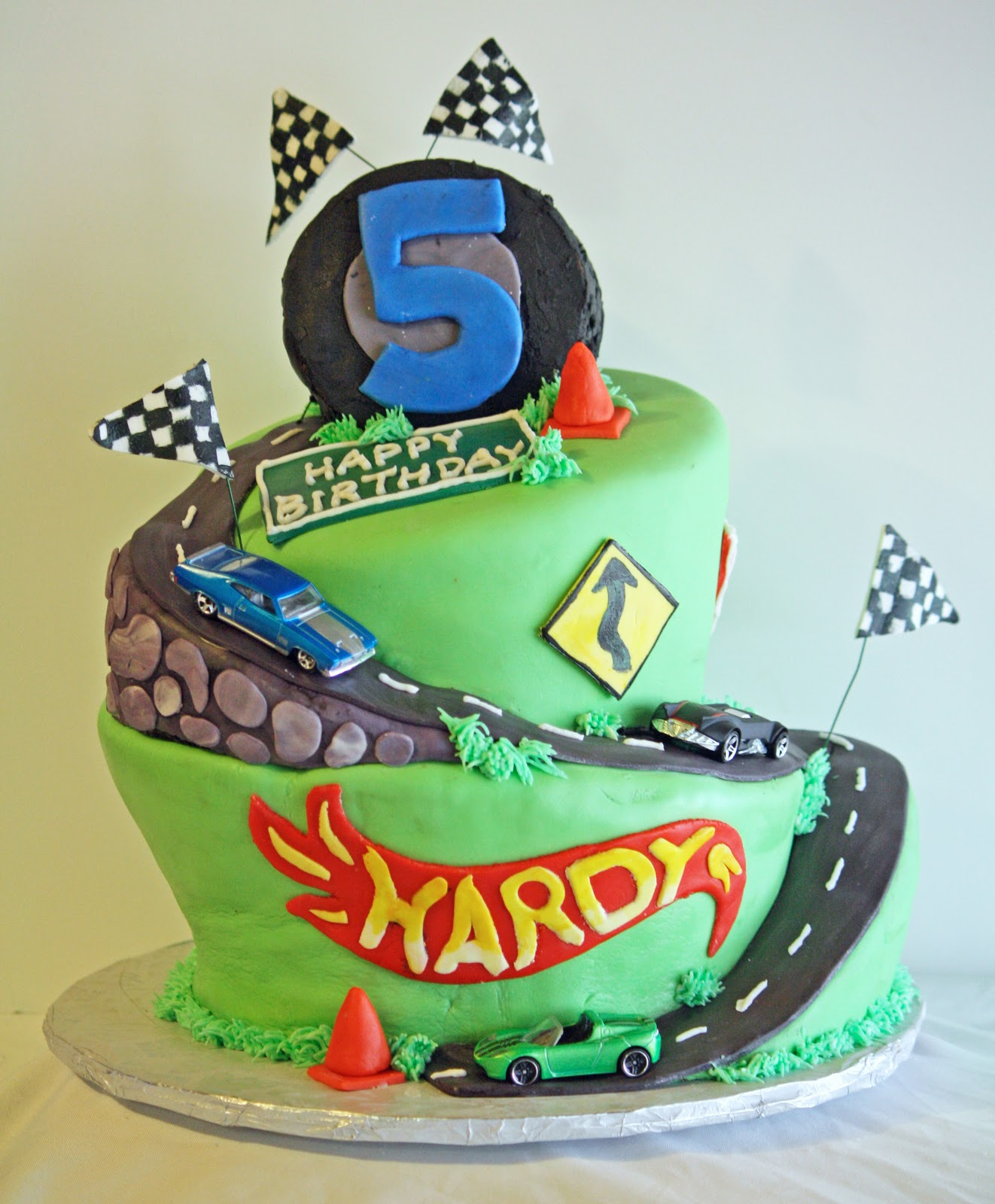 Birthday Cake Ideas Photos Hot : Wonky Hot Wheels Birthday Cake