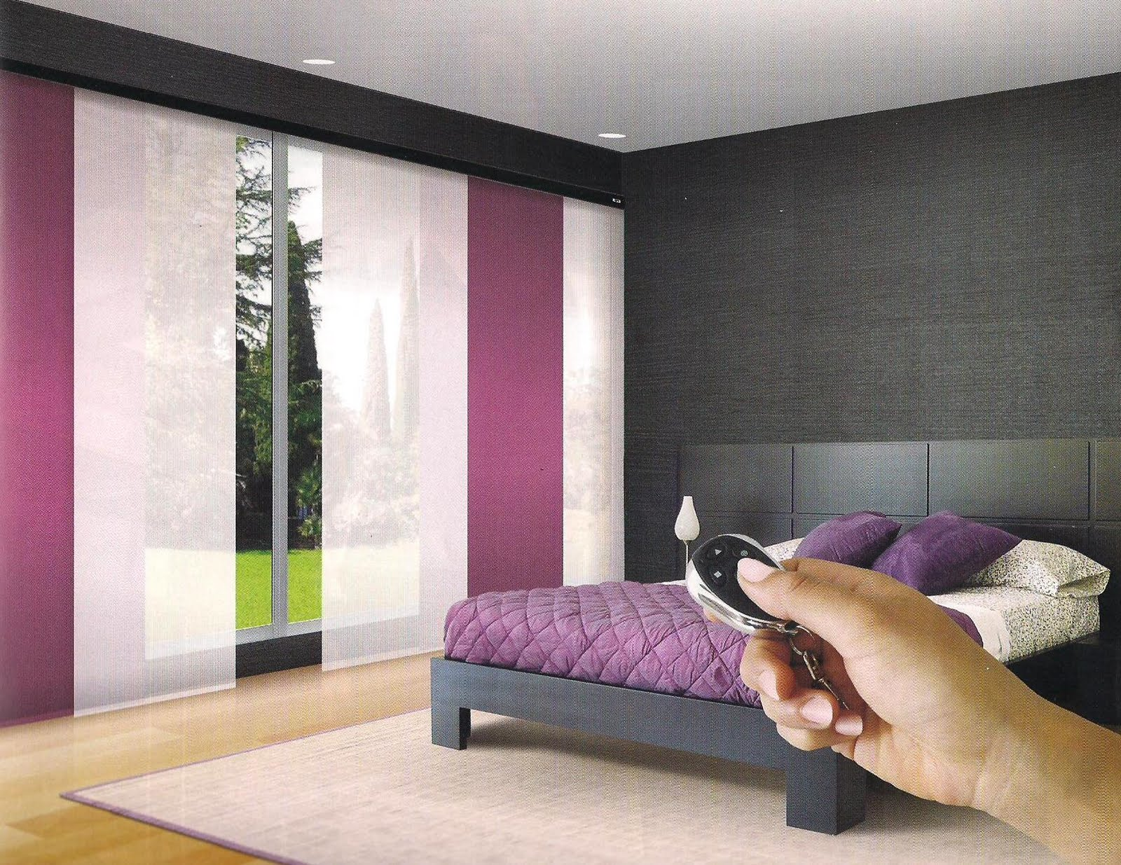 Cortinas maderarte panel japones for Cortinas de dormitorios modernos