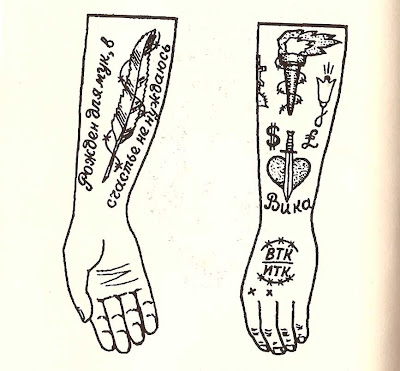 I found a book on Russian criminal tattoos which had 3600 designs.