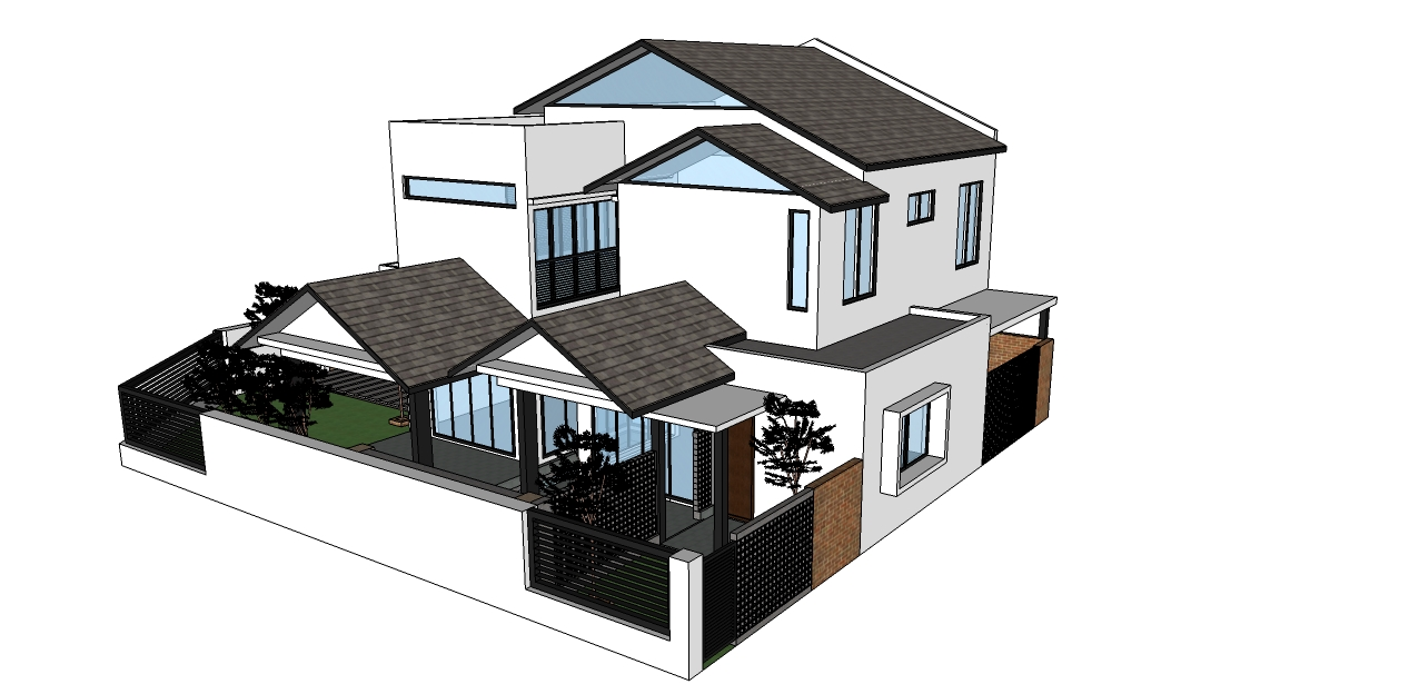 MEZ Design Solution Double Storey Corner Lot Modern Extension
