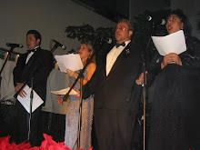 Héctor, Shanty, Luis (Guatemala), Bertha, (México)