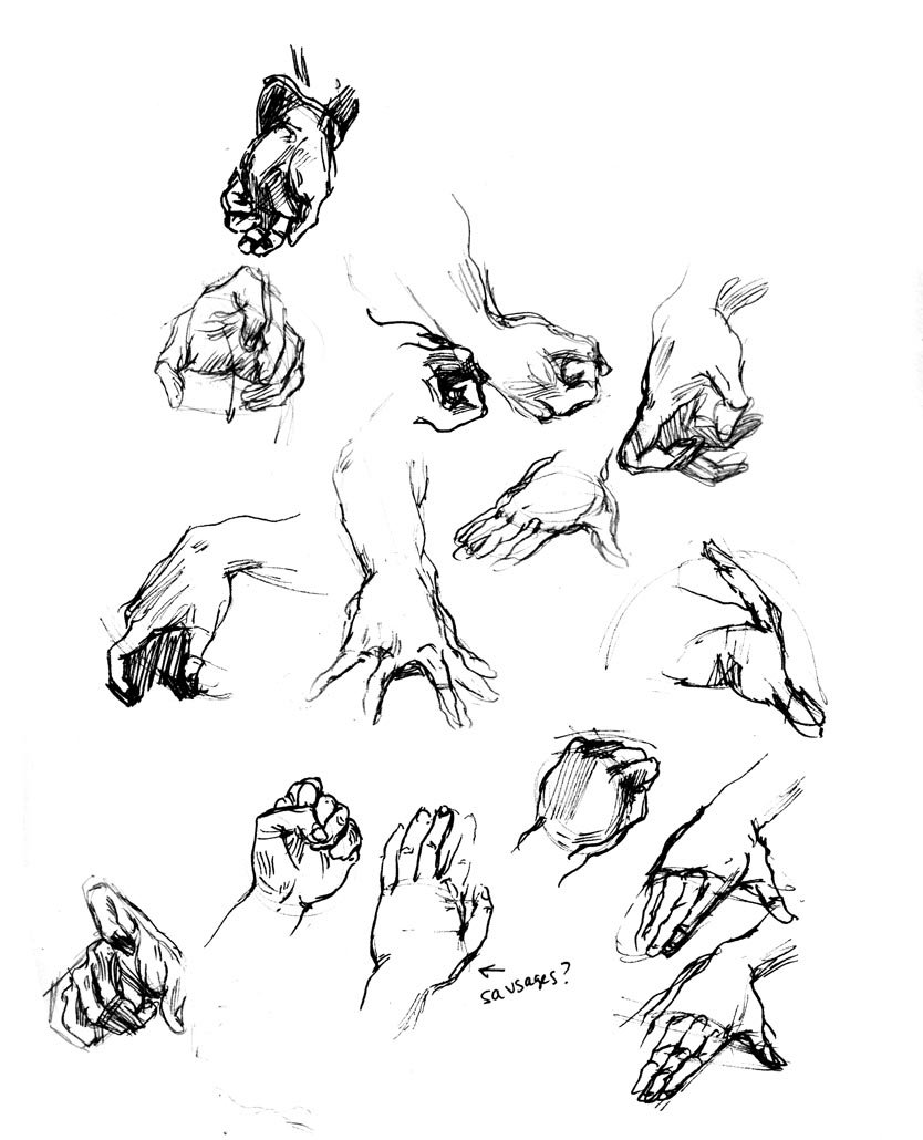 DRAWSMALL!: Hands Challenge (sort of) complete!