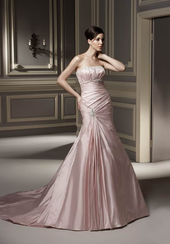 wedding fashion pink wedding dresses