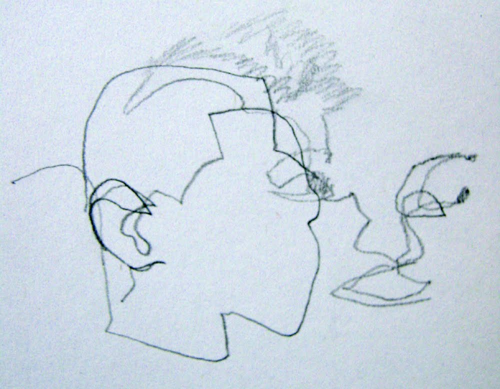 Blind Contour Line Drawing Self Portrait : New city arts march