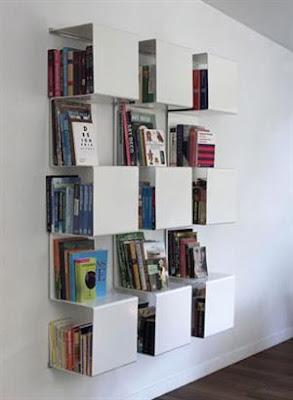 estantera cuadrada para libros
