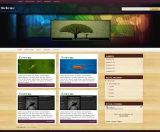 Selene Blogger Template