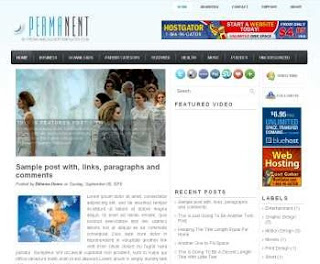 Permanent Blogger Template