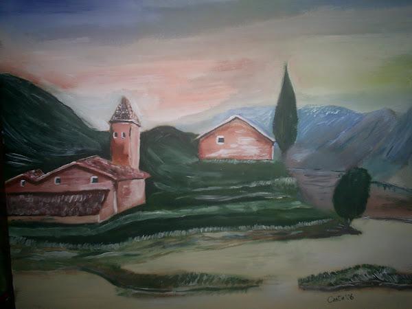 Caserio entre montañas