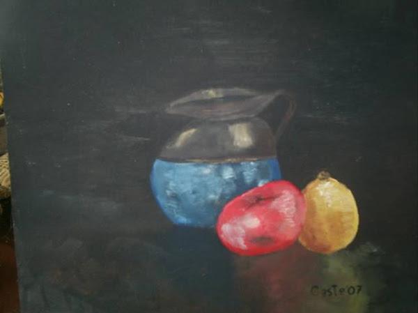 Jarra, tomate y limón