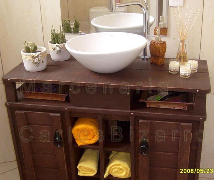 Dímoveis Móveis Planejados  (MARCENARIA BIZARRO  PELOTASRS) Armário para  # Armario Banheiro Rustico
