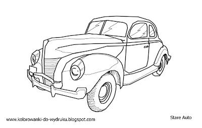 Kolorowanka do wydruku stary samochod