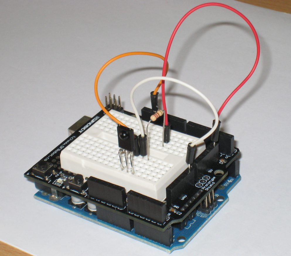 Arduino for Beginners: Arduino Protoshield + mini breadboard