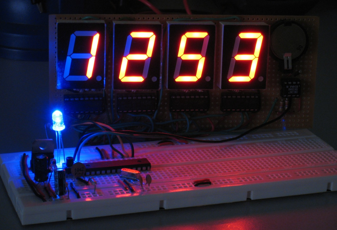 Arduino For Beginners Digital Clock With 7 Segments Led And Rtc Ds3231 Real Time Circuit Schematics Blue Second Indicator